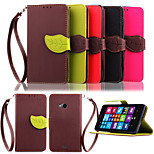 Vintage Magnetic Leaf Design Pu Leather Wallet Case for Nokia Lumia N535 Flip Cover with Stand Card Slots