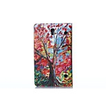 Oil Painting Maple PU Leather Full Body ABS Case with Holder for Samsung Galaxy T700 /Tab S 8.4