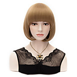 Women Beautiful Brown BOB Full Cosplay Hair Party Wig Anime Festival Wig