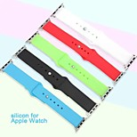 Colorful Fashion TPU Watch Band For Apple Watch 38mm Silicone Band Wrist Strap Cover Case For iWatch