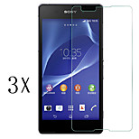 [3-Pack]Professional High Transparency LCD Crystal Clear Screen Protector with Cleaning Cloth for Sony Xperia E4G