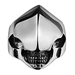 Skeleton Helmet Exaggerated Personality Rock Titanium Steel Stainless Steel Men's Ring