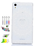 Sunflower Pattern Slim TPU Material Soft Phone Case And Dust Plug Stylus Pen Stand Combination for Sony Z1