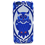 Blue and White Owl Pattern Plastic Hard Cover for iPhone 6