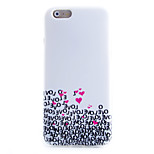 Love Pattern TPU Material Soft Phone Case for iPhone 6