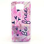 rosa blomst gratis mønster pc vanskelig sak for Samsung Galaxy alpha g850 g850f g8508s g8509v bakdekselet