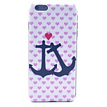 Love and Anchor Pattern Hard Case Cover for iPhone 6 Plus