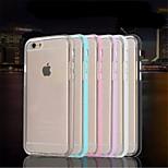 telaio piano in metallo multicolor + TPU cassa del telefono per iphone 6 (colori assortiti)