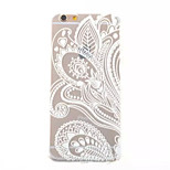 Feather Pattern TPU Painted  Soft Back Cover for iPhone 6
