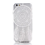 Campanula Printing Pattern TPU Material Soft Phone Case for iPhone 6