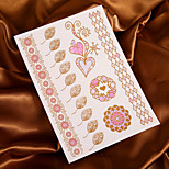 Discoloration Tattoo Flower Sunlight will Change Color Tattoo Stickers Temporary Tattoos(1 Pc)