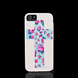 Cross Pattern Hard Cover for iPhone 5 Case for iPhone 5 S