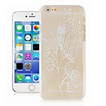 Lotus Pattern Transparent Phone Case Back Cover Case for iPhone6 Case