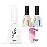 Azure 3 Pcs/Lot Temperature Changing Color Soak Off Nail Gel Nail Polish DIY for Nail Art (#38+BASE+TOP)