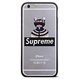 Fashion Clothes Blindfolded Cat Pattern Frame Back Cover for iPhone 6