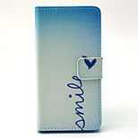 Smile Heart Pattern PU Leather Cover with Stand and Card Slot for Sony Xpeira Z4 Compact/Z4 Mini