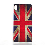 M Word Pattern Painted Transparent Frosted PC Material Phone Case for Sony Z4