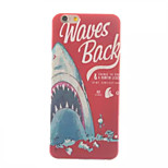 Shark Pattern Painted TPU Soft Back Cover for iPhone 6
