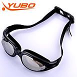 Yobo óculos de natação unisex anti-fog / tamanho ajustável / anti-uv / anti-derrapante alça pc sílica gel prata