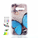 Butterfly Pattern Painted Soft Phone Case And Dust Plug Stylus Pen Stand Combination for Alcatel C5