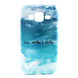 Smile Sky Pattern TPU Soft Case Back Cover for Samsung Galaxy Core Prime G360/G3608
