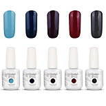 Gelpolish Nail Art Soak Off UV Nail Gel Polish Color Gel Manicure Kit 5 Colors Set S116