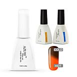 Azure 3 Pcs/Lot Gel Polish Color Changing UV Gel Soak-off Gel Nail Polish(#44+BASE+TOP)