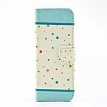 Polka Dot Pattern PU Leather Phone Case For iPhone 5/5S