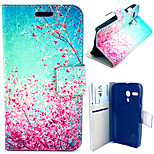 Beautiful Peach Blossom Pattern with Card Bag Full Body Case for Motorola Moto G