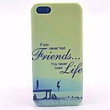 Diving Pattern Transparent Frosted PC Back Cover For  iPhone 5/5S