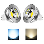 2 pcs Ding Yao 6W 1X COB 50-100LM 2800-3500/6000-6500K Warm White/Cool White MR16 Spot Lights AC 85-265V