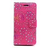 Flower PatternPeacock PatternDrill Point Card Case for Sony Z3 Mini(Assorted Colors)