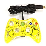 nuovo usb cablato giallo joystick controllore gamepad per Xbox 360& sottile 360e& PC Windows