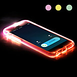New TPU LED Reminder Flash Transparent Back Case Cover for iPhone 6 (Assorted color)