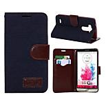 Luxury Denim PU Leather Card Holder Wallet Flip Phone Holster LG G3(Assorted Color)