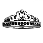 Crown Exaggerated Personality Rock Titanium Steel Stainless Steel Men's Ring