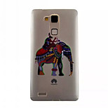 Color Image Pattern TPU Phone Case For Huawei Mate 7