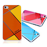 Luxury Retro Candy Color Plaid Pattern Soft Phone PC +ABS Case for iPhone 4 Ultra Thin Phone Cover Bag For iPhone 4s
