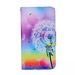 mælkebøtte mønster pu læder telefon Taske til Samsung Galaxy s6 kant