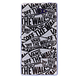 Cartoon Letters Pattern TPU Soft Case for Sony Xperia M2