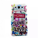 Szeretem az élet mintás vékony TPU telefon esetében Samsung Galaxy e7