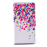 Cherry in Full Bloom Pattern PU Leather Cover with Stand and Card Slot for Sony Xpeira Z4 Compact/Z4 Mini