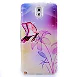 motif papillon TPU peint couverture souple de retour pour Samsung Galaxy Note 3