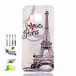 Transmission Tower Pattern Painted TPU Material Phone Case And Dust Plug Stylus Pen Stand Combination for HTC M9