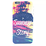 Summer Story Pattern PC Hard Case for iPhone 6 Plus