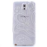 motif de plume TPU peint couverture souple de retour pour Samsung Galaxy Note 3