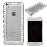 Luxury Crystal Rhinestone Diamond Bling Transparent Clear Hard Back Case Cover for iPhone 5/5S