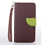 Deluxe Litchi Leaves Wallet Leather Flip Tpu Case For Sony Xperia Z3 Wallet Handbag + Lanyard