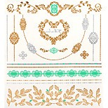1PC New Metallic Gold Tattoos Temporary Tattoos Flash Tattoos Anchor Heart Wedding Party Tattoos