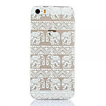 Elephant Pattern Plastic Hard Back Cover For iPhone5/5S